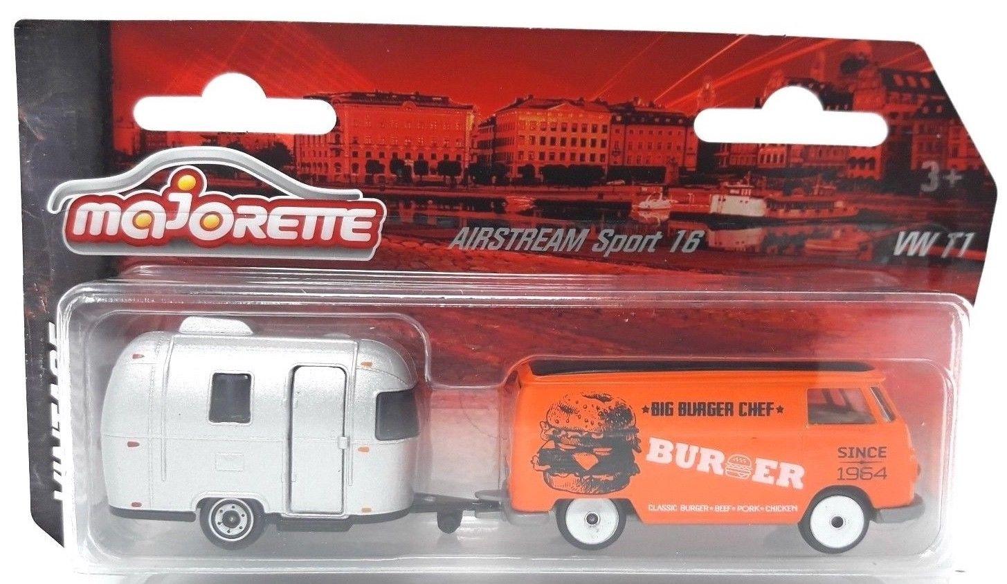 Majorette VW T1 burger + caravan