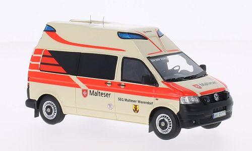 VW T5 Hornis Ambulanz, Malteser Schaal:1:43 Art.Nummer:NEO45453