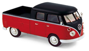 Volkswagen T1 Double Cabin 1961 - Red & Black