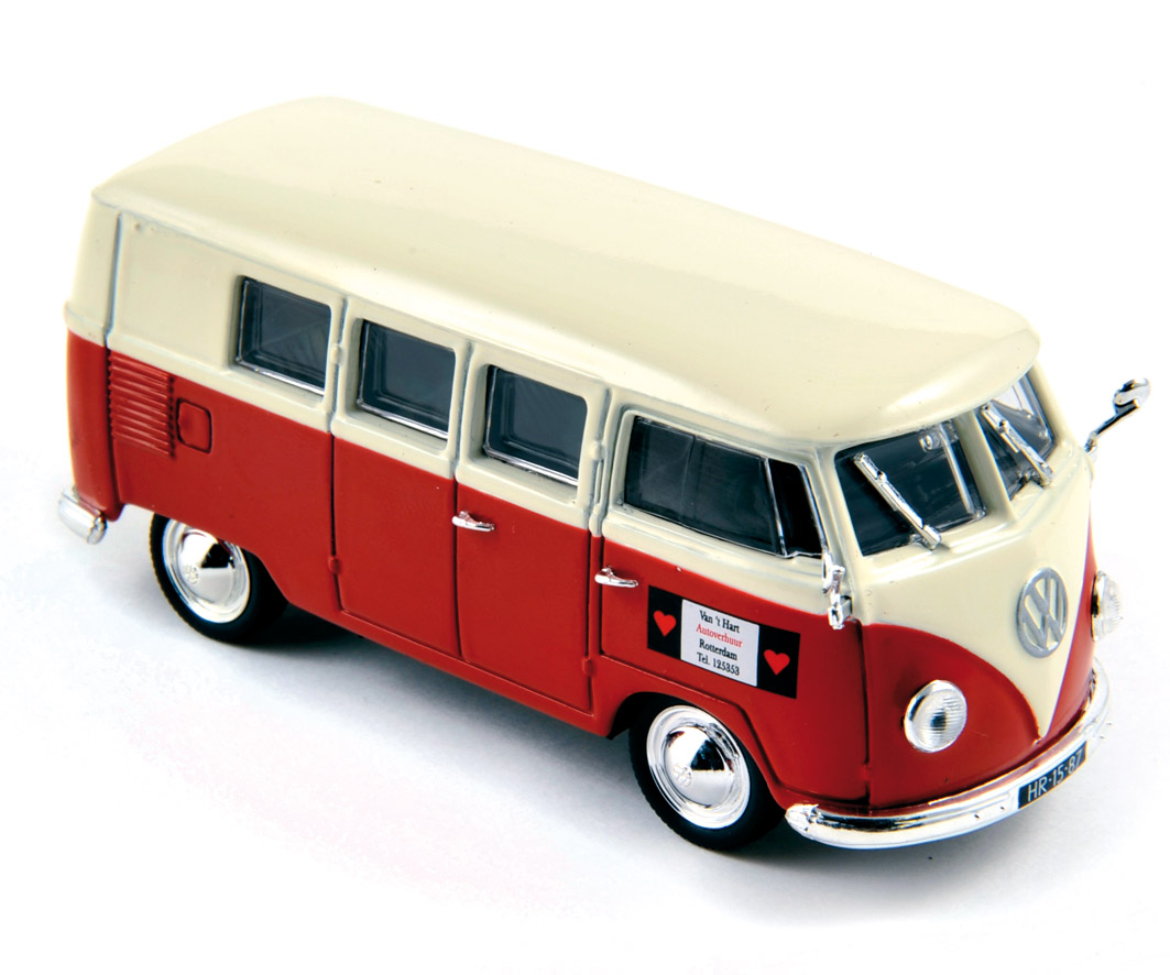 VOLKSWAGEN T1 KOMBI 1955 - WHITE & RED