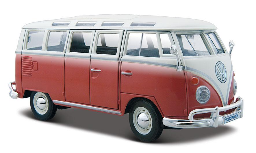 31956R maisto VW T1 samba 1op24 red