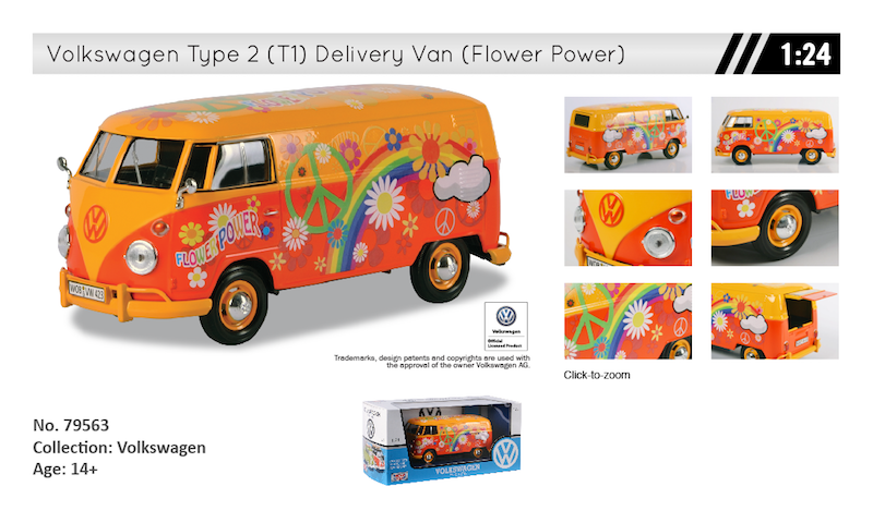 79563 volkswagen t1 flower power