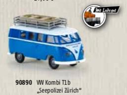 90890 Brekina VW T1 seepolizei zurich