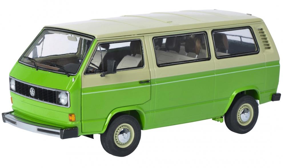 Schuco 450038000 Volkswagen T3 green beige 1op18
