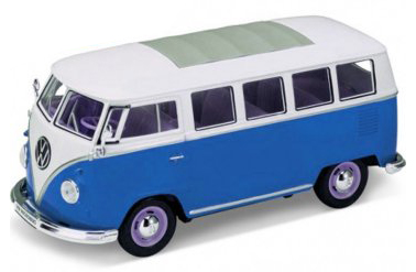 22095B welly VW T1 1962 1op24 blue white