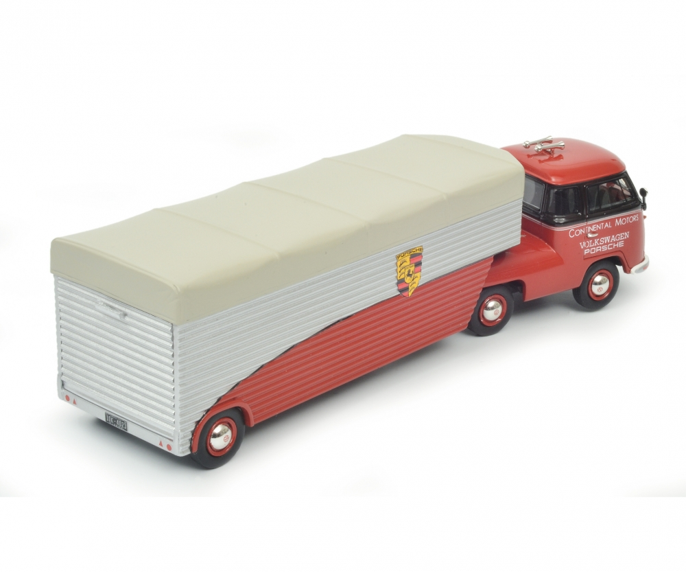 "VW T1b racing transporter ""Continental Motors"", red, 1:43 Article number: 450905600"
