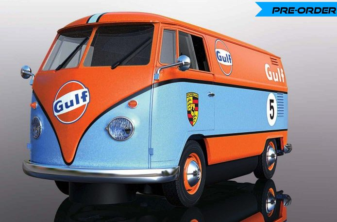 scalextric vw gulf T1 panel van