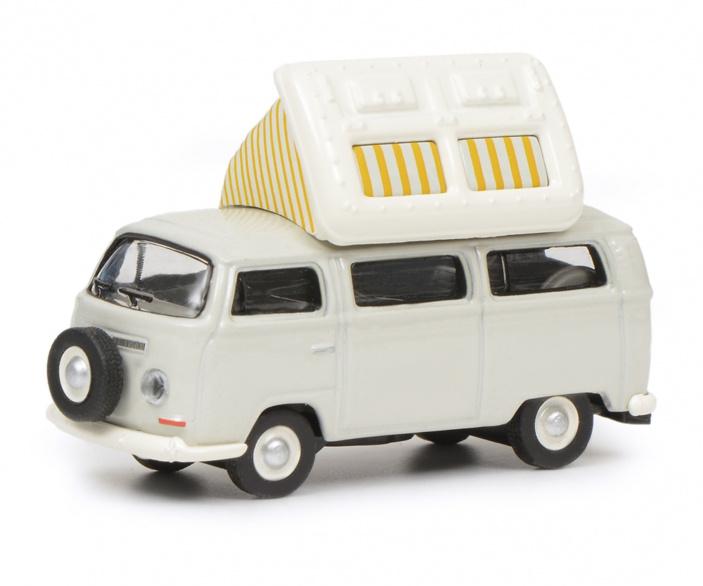VW T2a Camping Bus with open roof, grey white, 1:87 Article number: 452640400